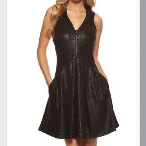 Guess Corrine fit and flare black dress 4